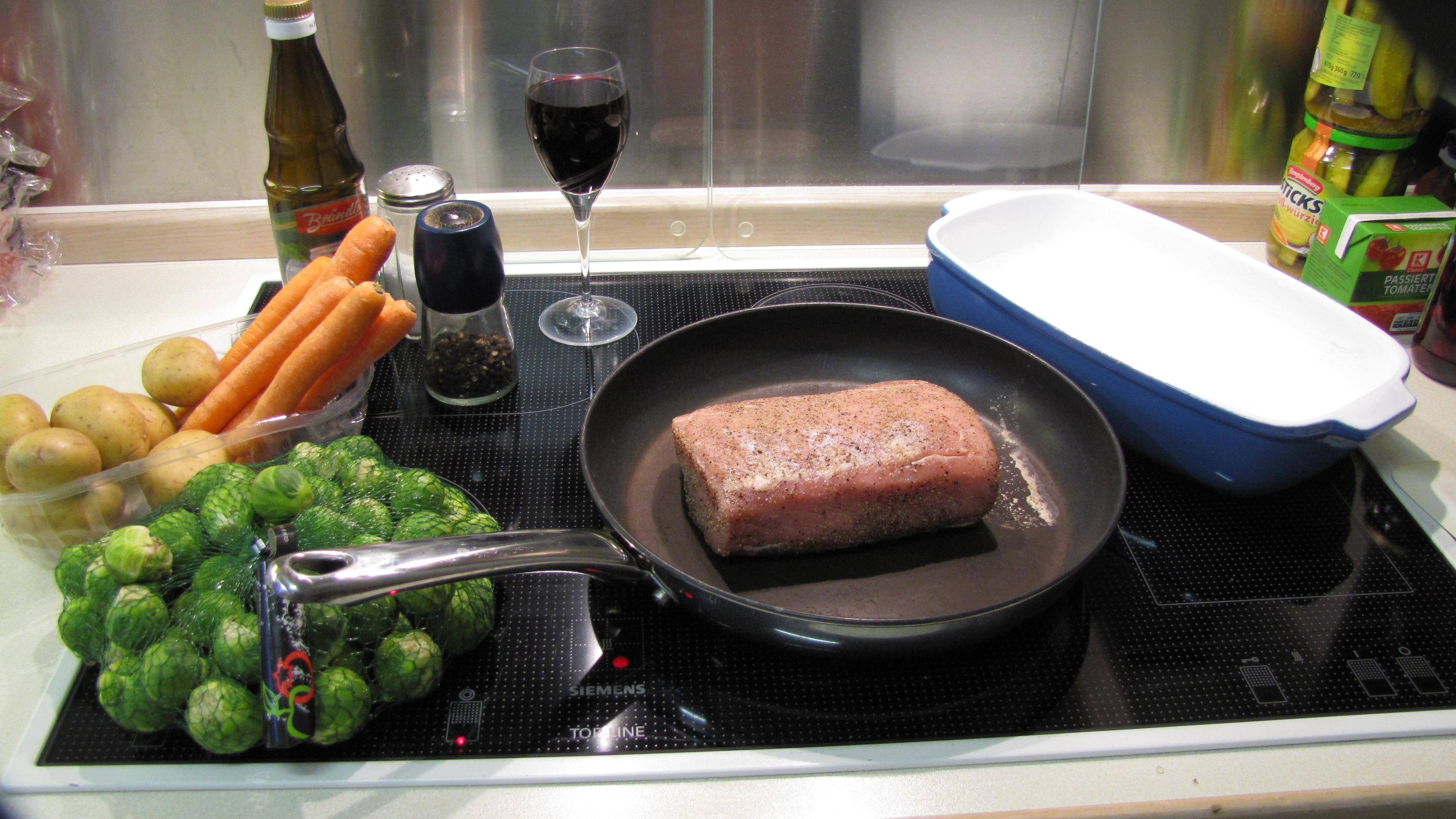 Zutaten: Sonntagsbraten mit Ofengemüse