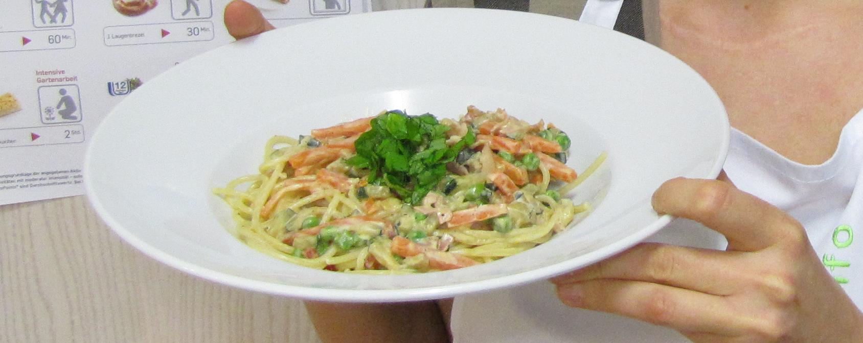 Sattmacher Pasta mit Gemüse und Schinken