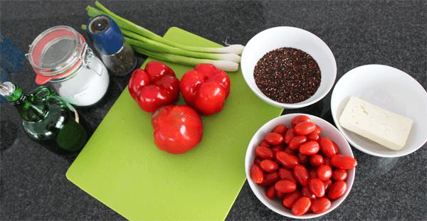 paprika gef llt mit quinoa nach weightwatchers berbacken mit feta wie abnehmen so abnehmen. Black Bedroom Furniture Sets. Home Design Ideas