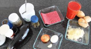 Leichte Musaka Zutaten für Weight Watchers