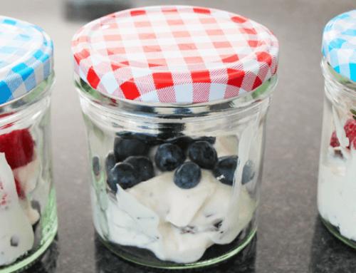 Schokokuss-Käsekuchen im Glas ohne Backen | nur 3 Zutaten | Weight Watchers Rezept